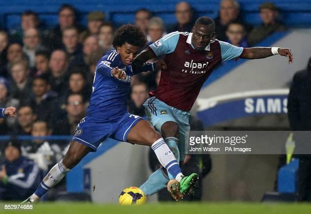 Chelsea's da Silva Willian in action with West Ham United's Guy Demel