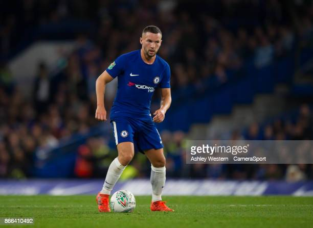 Chelsea's Daniel Drinkwater in action during the Carabao Cup Fourth Round match between Chelsea and Everton at Stamford Bridge on October 25 2017 in...