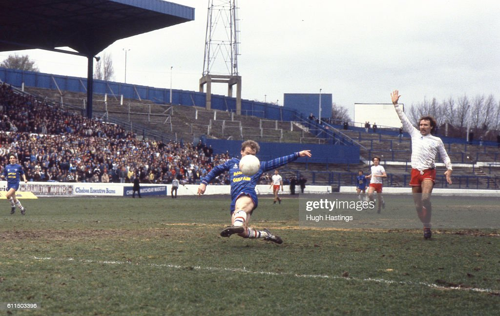 Chelsea's David Speedie on the attack. News Photo - Getty Images