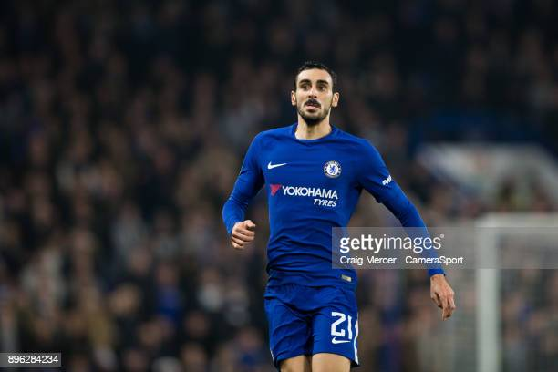 Chelsea's Davide Zappacosta during the Carabao Cup Quarter Final match between Chelsea and Bournemouth at Stamford Bridge on December 20 2017 in...