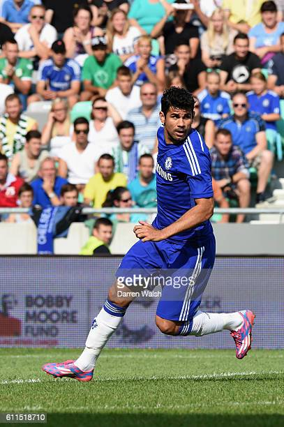 Chelsea's Diego Costa during a pre season friendly match between NK Olimpija Ljubljana and Chelsea FC at the Stozice Stadium on the 27th July 2014 in...