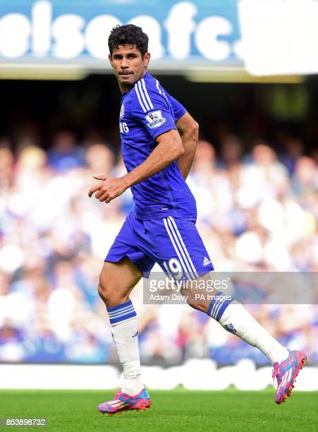 Chelsea's Diego Costa during the Barclays Premier League match at Stamford Bridge London