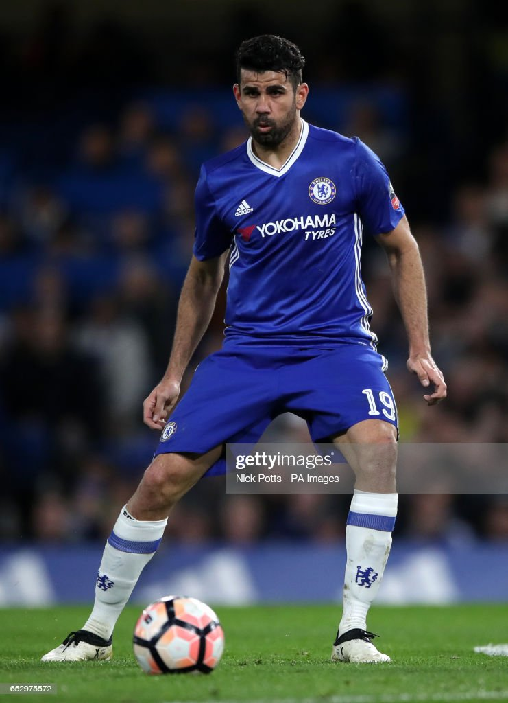 Chelsea's Diego Costa during the Emirates FA Cup, Quarter Final match at Stamford Bridge, London.