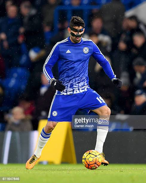Chelsea's Diego Costa during warm up
