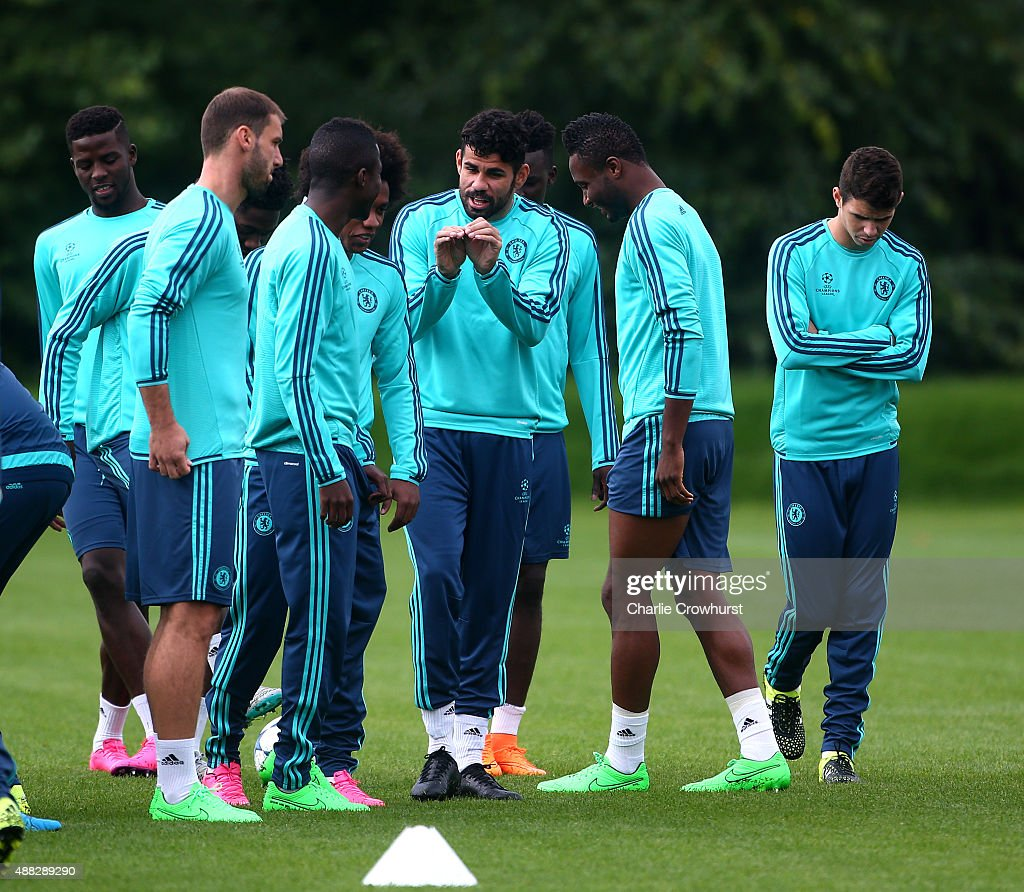 Chelsea Training Session & Press Conference : News Photo