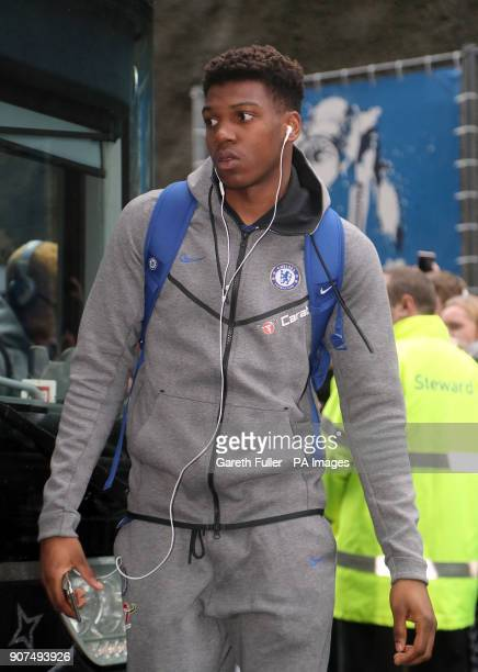 Chelsea's Dujon Sterling arrives for the Premier League match at the AMEX Stadium Brighton