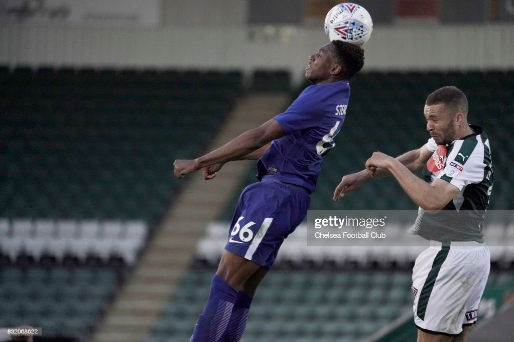 Chelsea's Dujon Sterling during the Checkatrade Trophy match at Home Park on August 15, 2017 in Plymouth, England.