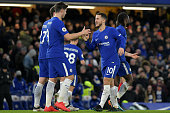 chelseas eden hazard celebrates his goal