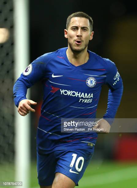 Chelsea's Eden Hazard celebrates scoring his side's first goal of the game