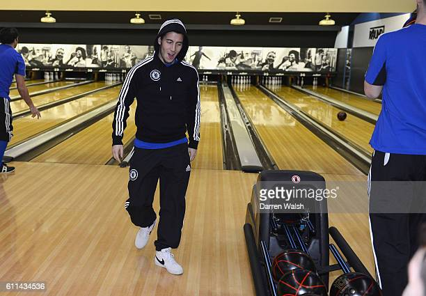 Chelsea's Eden Hazard during a evening out playing Ten Pin Bowling before the FIFA Club World Cup on the 11th December 2012 in Yokohama Japan
