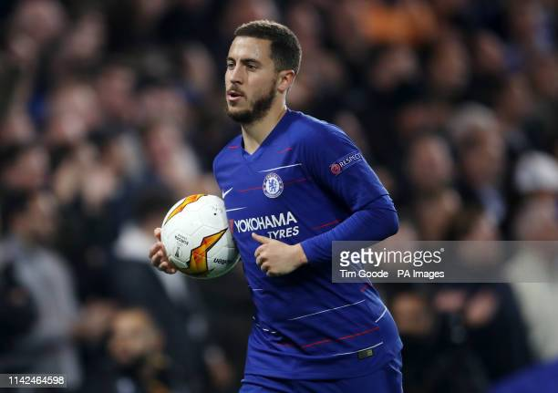 Chelsea's Eden Hazard during the UEFA Europa League Semi Final Second Leg at Stamford Bridge London