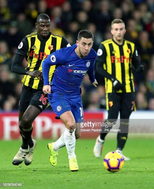 Chelsea's Eden Hazard in action