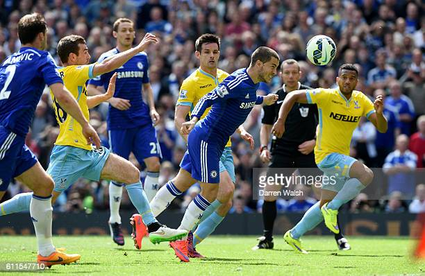 Chelsea's Eden Hazard misses the penalty but scores a header from the rebound