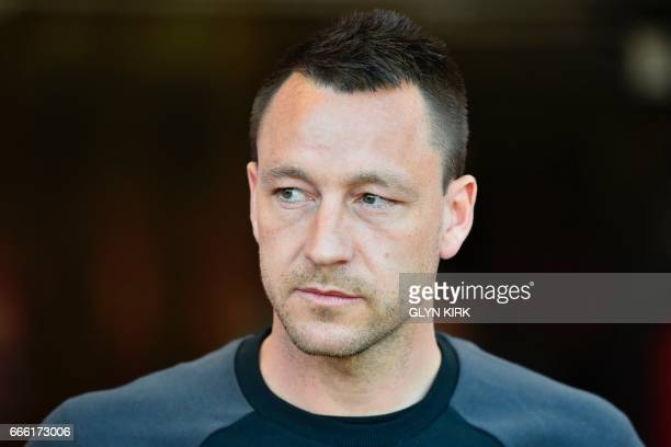 Chelsea's English defender John Terry is seen ahead of the English Premier League football match between Bournemouth and Chelsea at the Vitality...