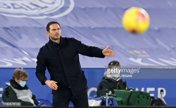 Chelsea's English head coach Frank Lampard shouts instructions to his players from the touchline during the English Premier League football match...