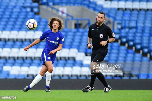 Chelsea's Ethan Ampadu during the Chelsea v Derby County Premier League 2 Match at Stamford Bridge on August 18 2017 in London England