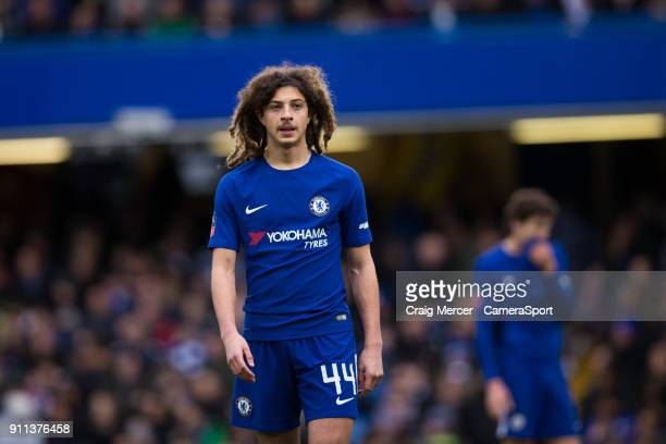 Chelsea's Ethan Ampadu during The Emirates FA Cup Fourth Round match between Chelsea and Newcastle United at Stamford Bridge on January 28 2018 in...
