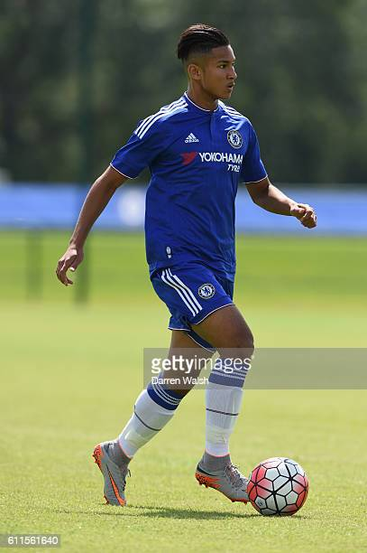 Chelsea's Faiq Bolkiah during a friendly match between Chelsea Under 18 and Watford Under 18 at the Cobham Training Ground on 31st July 2015 in...