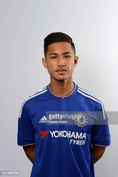 Chelsea's Faiq Bolkiah poses during the Academy Photocall Season 2015/16 at Stamford Bridge on 6th July 2015 in London England