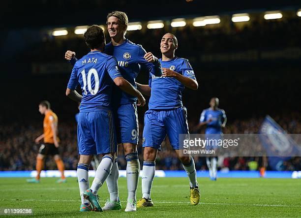 Chelsea's Fernando Torres celebrates scoring his side's fifth goal