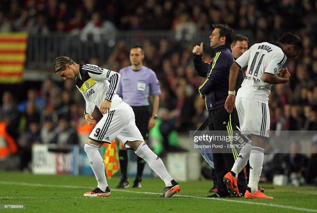Soccer - UEFA Champions League - Semi Final - Second Leg - Barcelona v Chelsea - Camp Nou Stadium : News Photo