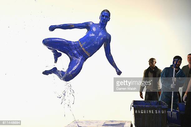 Chelsea's Fernando Torres during the making of the teaser campaign 'It's Blue What Else Matters' shoot for the 2013/14 new Chelsea FC kit at...