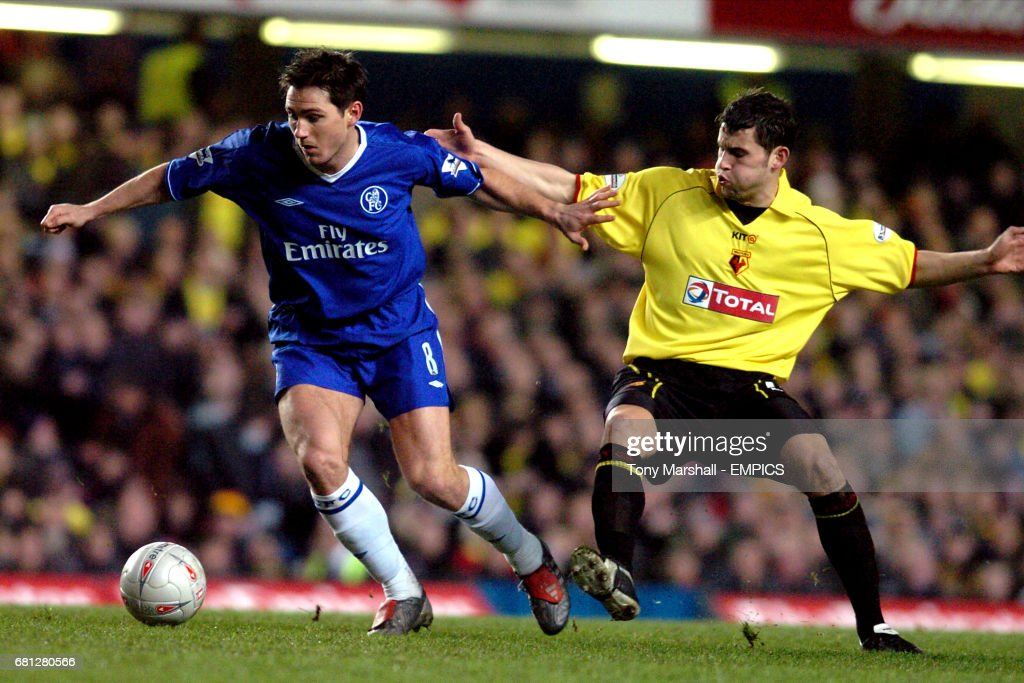 Chelsea's Frank Lampard and Watford's Jamie Hand