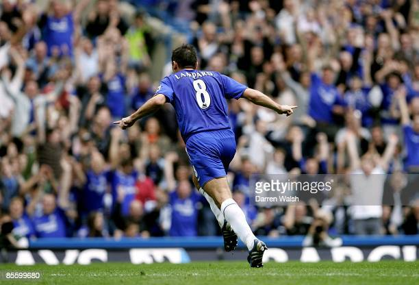 Chelsea's Frank Lampard celebrates scoring the equalising goal of the game
