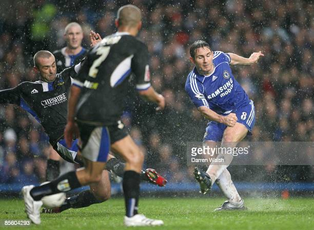 Chelsea's Frank Lampard scores his second goal aganist Macclesfield Town