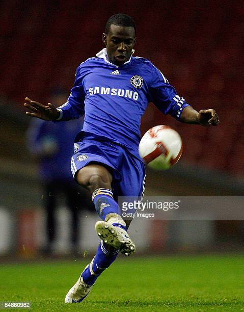 Chelsea's Gael Kakuta during the FA Youth Cup match between Liverpool Youth and Chelsea Youth at Anfield Stadium on February 5 2009 in Liverpool...