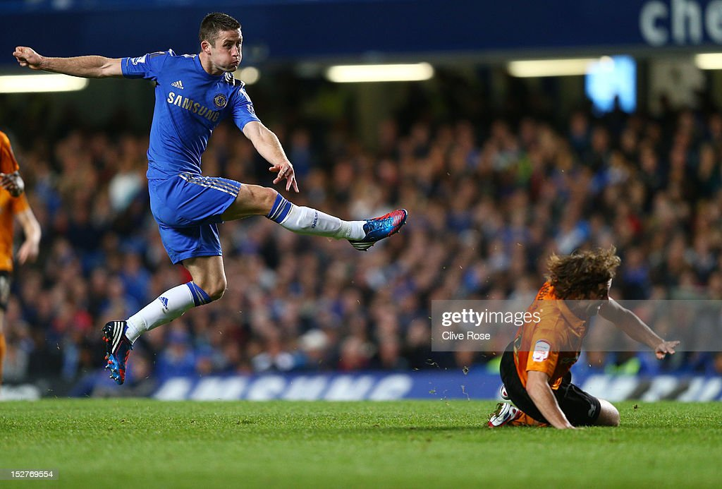 Chelsea's Gary Cahill in action during the Capital One Cup third round match between Chelsea and Wolverhampton Wanderers at Stamford Bridge on September 25, 2012 in London, England.