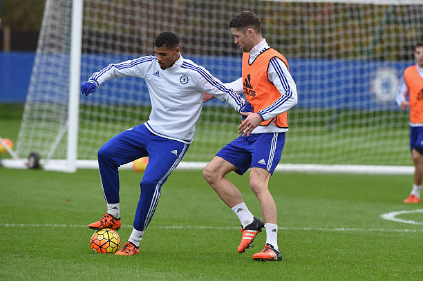 Image result for Gary Cahill with Ruben Loftus-Cheek