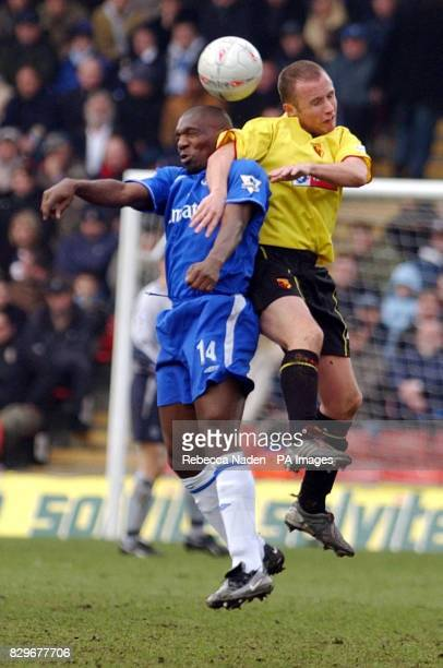 Chelsea's Geremi and Watford's Paul Devlin in action during the FA Cup Third Round match at Watford's Vicarage Road ground Final score 22 THIS...