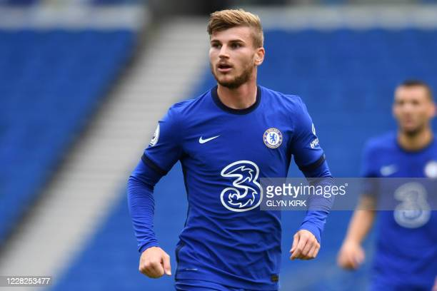 Chelsea's German striker Timo Werner is pictured during the pre-season friendly football match between Brighton and Hove Albion and Chelsea at the...