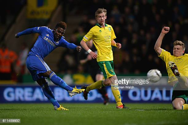 Chelsea's Islam Feruz during a English FA Youth Cup Final 1st leg match between Norwich City U18 and Chelsea U18 at Carrow Road on 29th April 2013 in...