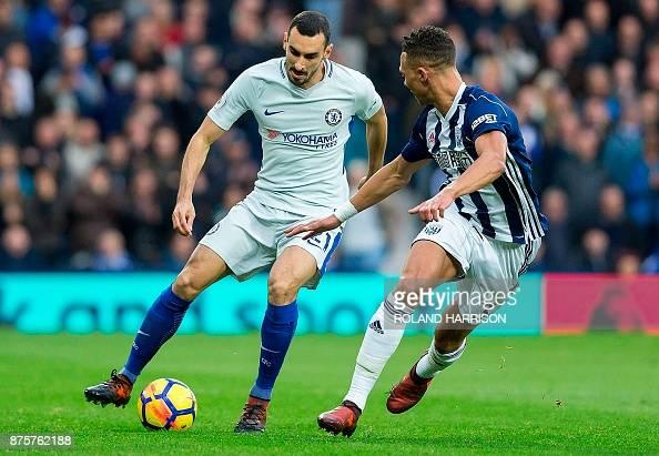 Chelsea's Italian Defender Davide Zappacosta Vie With West