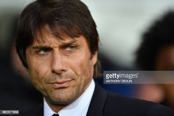 Chelsea's Italian head coach Antonio Conte looks on before the English Premier League match between West Bromwich Albion and Chelsea at The Hawthorns...