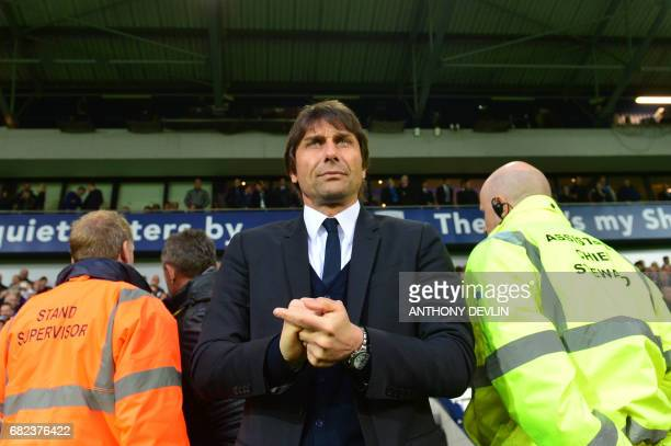 Chelsea's Italian head coach Antonio Conte waits before the English Premier League match between West Bromwich Albion and Chelsea at The Hawthorns...
