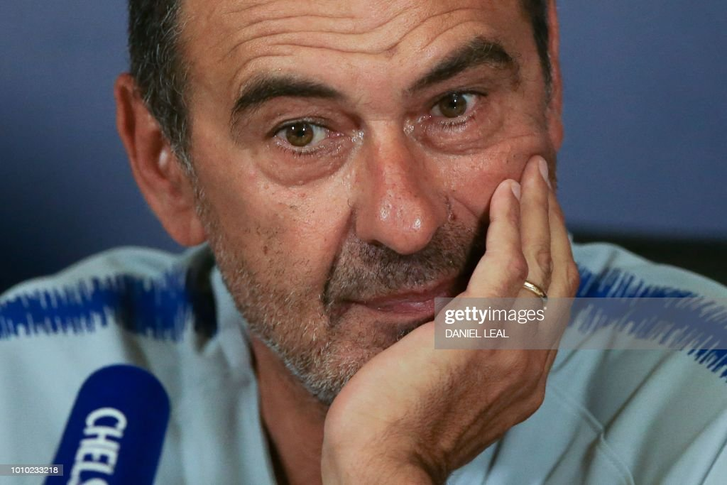 FBL-ENG-PR-ITA-CHELSEA-SARRI : News Photo