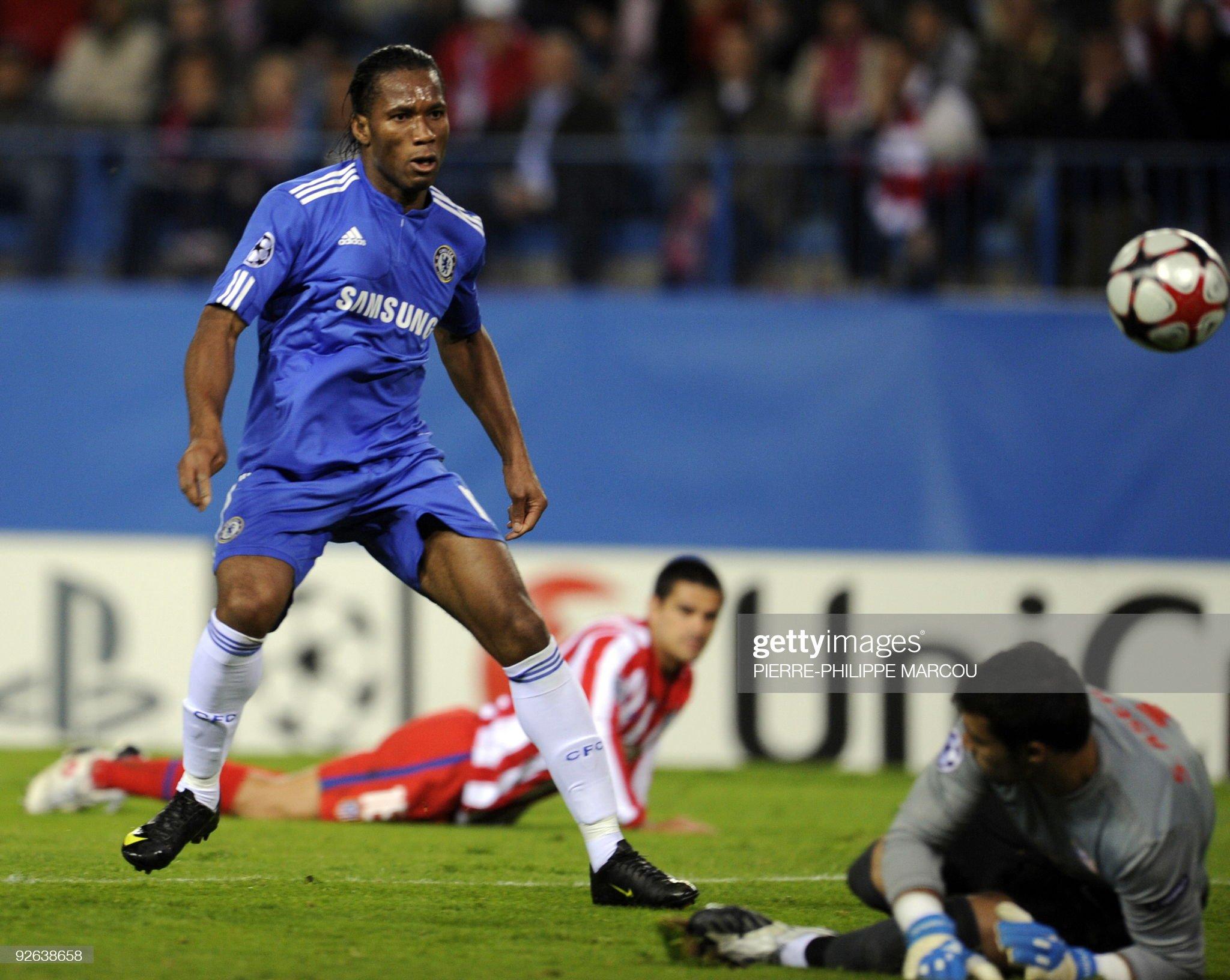 Chelsea's Ivorian forward Didier Drogba : News Photo