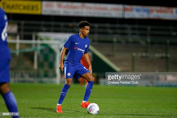 Chelsea's Jacob Maddox during the Checkatrade Trophy match between Yeovil Town and Chelsea at Huish Park on October 25 2017 in Yeovil England
