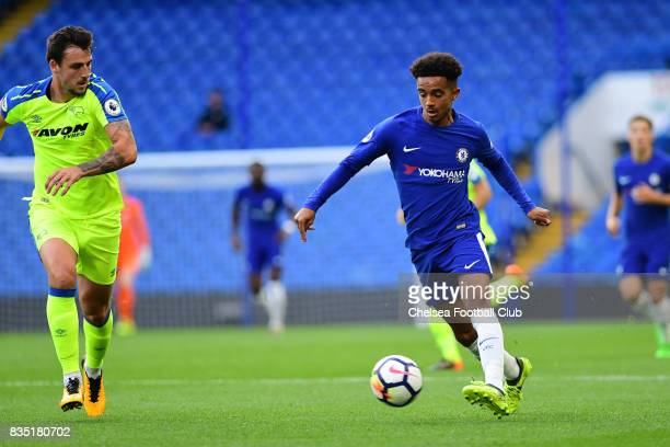 Chelsea's Jacob Maddox during the Chelsea v Derby County Premier League 2 Match at Stamford Bridge on August 18 2017 in London England