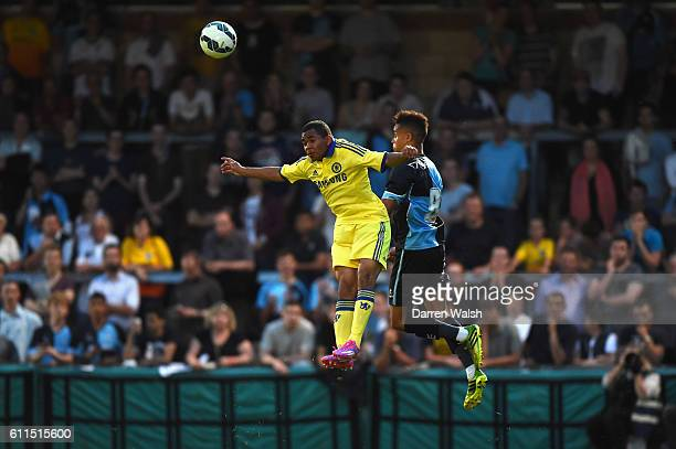 Chelsea's Jay Dasilva and Wycombe Wanderers Paris Cowan-Hall during the Matt Bloomfield Testimonial match at Adams Park on 16th July 2014 in High...