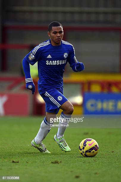Chelsea's Jay Dasilva during a Premier League International Cup match between Chelsea Under 21 and Norwich City Under 21 at The Cherry Red Record...