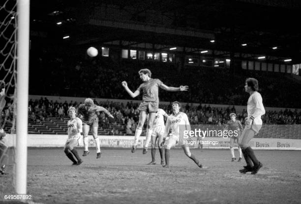 Chelsea's Joey Jones heads for goal during the Football League Division Two match between Chelsea and Bolton Wanderers at Stamford Bridge on December...