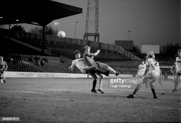 Chelsea's Joey Jones shoots for goal during the Football League Division Two match between Chelsea and Bolton Wanderers at Stamford Bridge on...