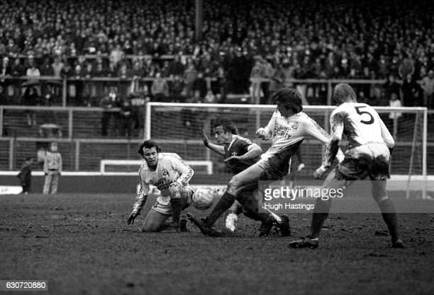 Chelsea's John Bumstead during the Football League Division Two match between Chelsea and Bolton Wanderers at Stamford Bridge on March 7th 1981 in...