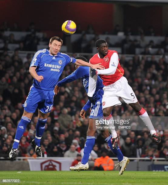 Chelsea's John Terry and Arsenal's Kolo Toure battle for the ball