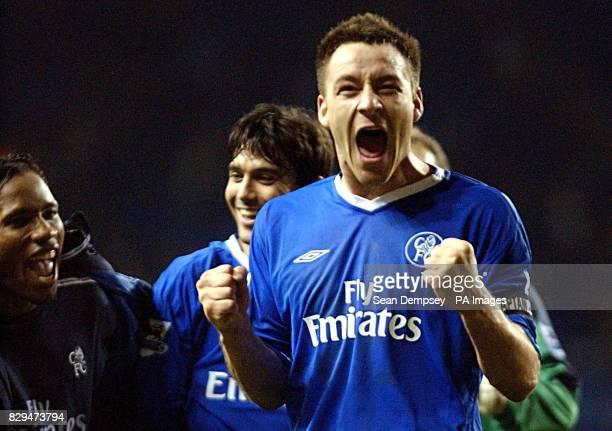Chelsea's John Terry celebrates his goal against Tottenham Hotspur