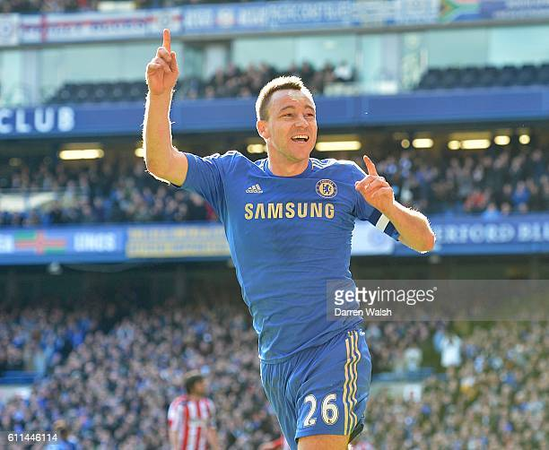 Chelsea's John Terry celebrates scoring his side's fourth goal of the game